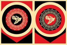 Obey Dove Artist Proof Screen Print Set by Shepard Fairey Signed & Numbered AP