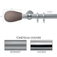 Scorritenda Bastone per Tenda Alluminio Strappo Corda con Anelli CALICE Vami