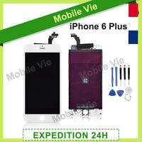 ECRAN VITRE TACTILE + LCD RETINA SUR CHASSIS POUR IPHONE 6 PLUS BLANC + OUTILS