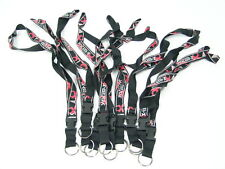 (25 PACK) LANYARD NECK STRAP, KEYCHAIN, PAINTBALL black