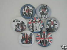 THE WHO MUSIC BAND  7 PINS BUTTONS BADGES TUFF NEW NZV