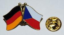 FREUNDSCHAFTSPIN 0140 PIN ANSTECKER DEUTSCHLAND / TSCHECHIEN FAHNE METALL PINS