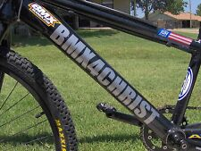 """Personalized Bike Lettering Decal Sticker 14"""""""