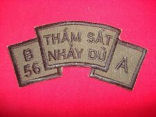 "Nam War Subdued Scroll Patch - A Company SFOD B-56, 5th SFGrp ""THAM SAT NHAY DU"""