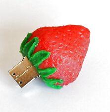USB Pegar 4GB Fresa Baya Fruta Rojo Idea Aardbei Fresa Fraise