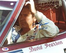David Pearson SIGNED 8x10 Photo + HOF 11 NASCAR LEGEND PSA/DNA AUTOGRAPHED