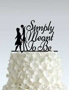 Acrylic Wedding Cake Topper - Nightmare Before Christmas - Simply meant to be