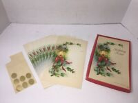 Vintage Christmas Noteables 7 Fold Over Greeting Holiday Note Cards Winter Light