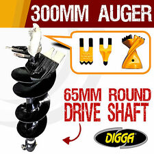 300mm Auger Drill Bit Post Hole Earth Augers Drilling Tungsten 12 Inch Bits