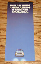 Original 1983 Winnebago Centauri Van Sales Brochure 83