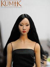 "Kumik 1/6 Scale Female Head Sculpt For 12"" Figure Carving Model Long Hair 13-20"
