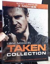 Taken Blu-ray Collection (All 3 Movies in HD)Digital Code Included -NEW-Free S&H