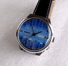 Vintage Soviet Men's Mechanical Watch Raketa Calendar 2628H Large Size DATE DAY