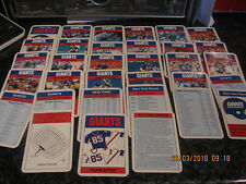 VINTAGE TOP TRUMP CARDS NEW YORK GIANTS COMPLETE NO BOX VGC