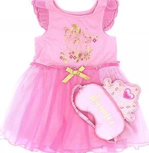 Disney Princess Nightgown & Sleep Mask~ Cinderella•Jasmine•Belle ~Soft Sleep Set