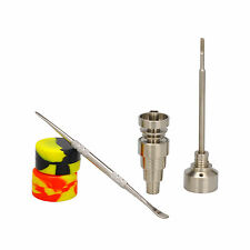 6 in 1 Titanium Nail Female Male 10 14 18 MM With Silicone Carb Cap+Carving Tool