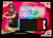 2014 Topps Finest TOM SAVAGE #07/10! Autograph 3 Color Patch Pink Refractor SSP