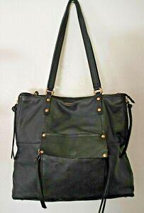 Kooba Genuine Leather Tote Bag Black purse Shoulder Bag