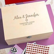 Personalised Large Wooden Wedding Keepsake Memory Box Engraved Gifts Bride Groom