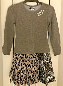Kate Mack designer girls' winter dress - embellished - age 6 - great condition