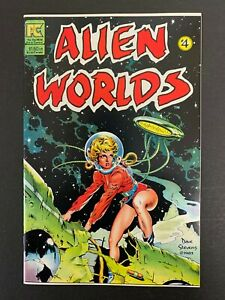 ALIEN WORLDS #4 *HIGH GRADE!* (PACIFIC, 1983) DAVE STEVENS COVER!  LOTS OF PICS!