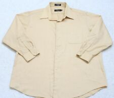 George Dress Shirt XL 17-17.5 32/33 Long Sleeve Extra Large CottonPoly Beige Top