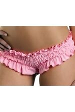 Ruffled Booty Shorts New Adult Womens Sexy Valentine Clothing PInk Medium Size