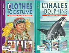 LADYBIRD DISCOVERY X 2 CLOTHES & COSTUMES Plus WHALES & DOLPHINS with Fold-out's