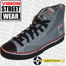 VISION STREET WEAR Hi Tops Grey 5 UK  6 USA '80s Old School Skate Trainers Shoes