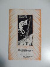 Germini Radio Novita'. Esposizione permanente, Pieghevole pubblicitario, 1930