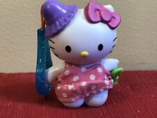 2000 McDonald's Hello Kitty Plastic Clip On  Backpack Toy pink polka dot dress