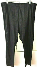 LYSSE woman BLACK Plus Stretch Legging stretch front  buffed faux suede  sz 3X