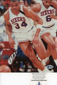 Charles Barkley HOF 76ers Suns Signed Autographed 8x10 Glossy Photo Beckett BAS
