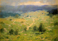 Oil painting charlotte buell coman - clearing off earlier spring landscape art