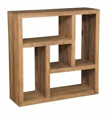 CUBA NATURAL SHEESHAM WOOD SQUARE BOOKCASE (C40NW)