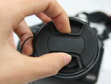1x 49mm Center Pinch Snap-on Front Lens Cap Cover For Canon Nikon Sony Camera