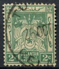 Kelantan 1921-8 SG#16, 2c Green Used #D9943