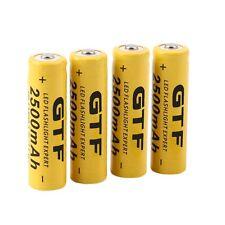 4pcs 3.7V 14500 2500mAh Li-ion Rechargeable Battery For Flashlight Torch XJB