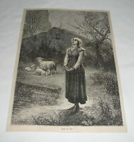 1879 magazine engraving ~ JOAN OF ARC