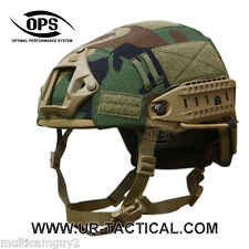 OPS/UR-TACTICAL HELMET COVER FOR AIRFRAME IN WOODLAND CAMO-MEDIUM