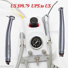 Portable Dental Teeth Air Turbine Unit 4 Hole 2 High Speed Handpiece Equipment