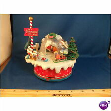 Enesco Eskimo Mice In Igloo Multi-Action/Lights Music Box MIB