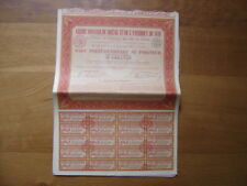 Bond Action Titre Emprunt CREDIT FONCIER BRESIL et AMERIQUE DU SUD 1929