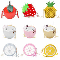 Women Shoulder Bag Fruits Shape Satchel Messenger Cross-body Handbags Purse Lot