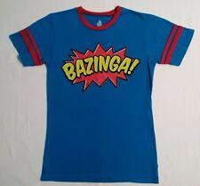 "Ripple Junction The Big Bang Theory ""BAZINGA"" Blue T-Shirt Size Small"