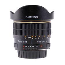 Samyang 8mm F3.5 Fisheye CS Multi Coated Lens Olympus Four Thirds CA2940