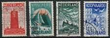 Nederland gestempeld 1933 used 257-260 - Zeemanszegels (01)