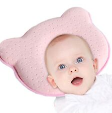 Baby Pillow Rosa Cuscino Traspirante per Prevenire Sindrome Testa Piatta Bambino
