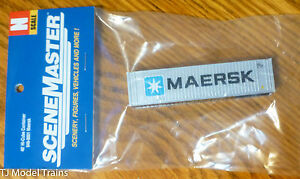 Walthers N #949-8801 ( 40' Hi-Cube Container ) Maersk (Painted)
