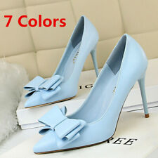 Women's Stilettos Cute Bow Pointed Toe High Heeled Party Wedding Pumps Shoes